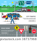 City Traffic Road Signs Banners  38737968