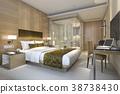 modern luxury bedroom suite and bathroom 38738430
