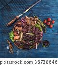shashlik, marinated, grilled 38738646