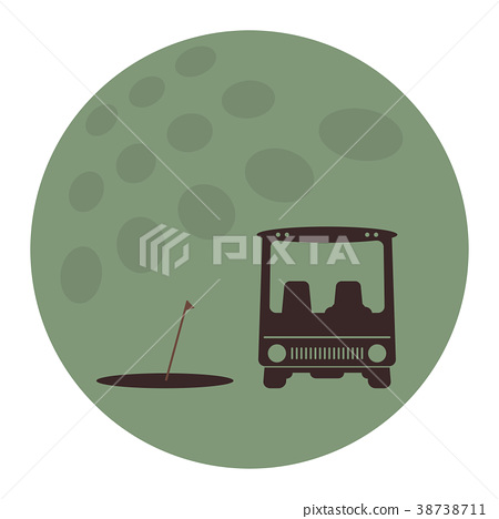 Front View of Golf cart icon 38738711