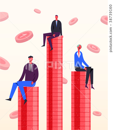 Vector business concept illustration. Stylized 38739160