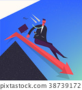 Vector business illustration, stylized character 38739172