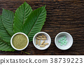 Mitragyna speciosa (kratom) leaves with products 38739223