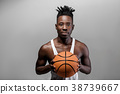 African-American man with basketball 38739667