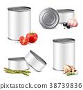 Jarred Vegetables Tin Set 38739836