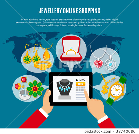 Jewelry Online Shopping Composition 38740086