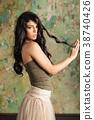 woman, beautiful, young 38740426