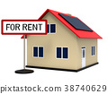 House for rent, 3d rendering 38740629