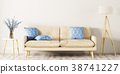 Interior of living room with sofa 3d rendering 38741227