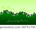 Holiday card on St. Patrick's Day 38741795