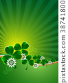 Holiday card on St. Patrick's Day 38741800