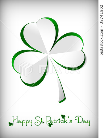 Holiday card on St. Patrick's Day 38741802