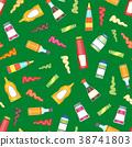 Cartoon Sauces Bottle Seamless Pattern Background 38741803