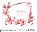 Beautiful nature background with blossom branch 38743553