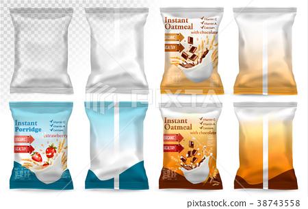 Polypropylene plastic packaging - instant porridge 38743558