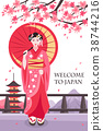 Ancient Japan Geisha Poster 38744216