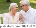couple, senior, park 38747074