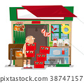 A old local convenience store in Hong Kong 38747157