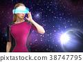 woman, space, virtual 38747795