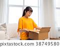 女人 女性 盒子 38749580