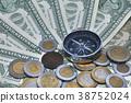 compass,money,coin 38752024