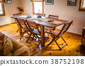 Empty wooden dining table at home 38752198