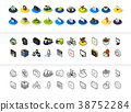 icon, set, isometric 38752284