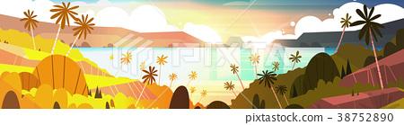 Sunset On Tropical Beach Beautiful Landscape 38752890