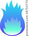 Blue flame gradation 38754775
