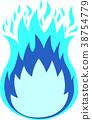 Burning blue flame 38754779