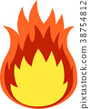 Red flame 38754812