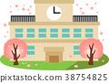 學校 學校建築 矢量 38754825