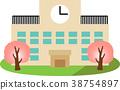 學校 學校建築 矢量 38754897