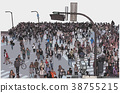 Illustration of Tokyo Shibuya Crossing 38755215