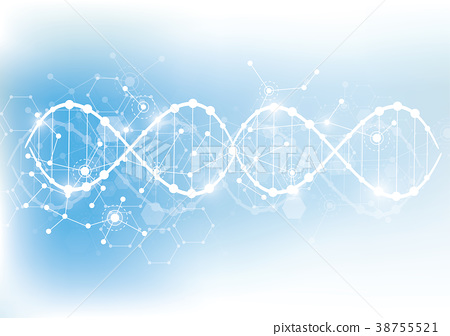Science template, wallpaper or banner with a DNA 38755521