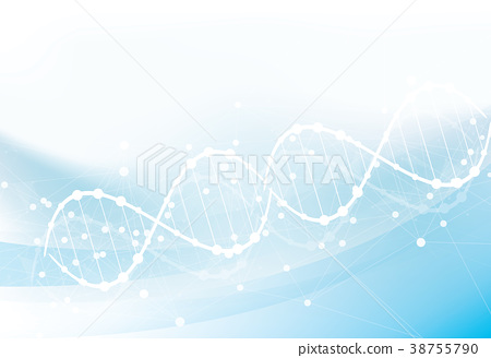 Science template, wallpaper or banner with a DNA 38755790