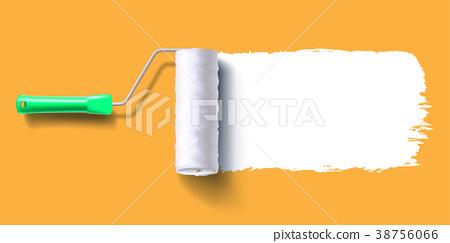 white roller brush  38756066