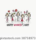 快樂 幸福 女性 38758973