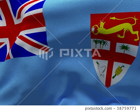 Texture with image of the flag of Fiji. 38759771