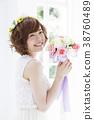 웨딩 신부 여성 결혼 38760489