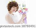 婚禮 新娘 一個年輕成年女性 38760491