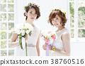 웨딩 신부 여성 결혼 38760516