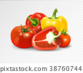 Photo-realistic vector. Red tomato and paprika 38760744