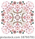 Design for square pocket, shawl, scarf, textile 38760781