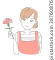 母親節 康乃馨 女生 38760876