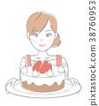 여성, 여자, 케이크 38760953