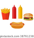 薯條 熱 牛肉 38761238