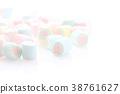 Pastel colourful marshmallows 38761627