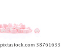 Pink Heart marshmallow isolated in white  38761633