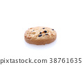 Chocolate chip cookie isolated in white background 38761635